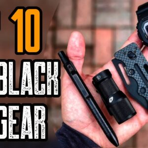 Top 10 All Black EDC Gear & Gadgets for MEN