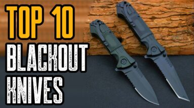 Top 10 Best All Black Knives For EDC (Everyday Carry Knives)
