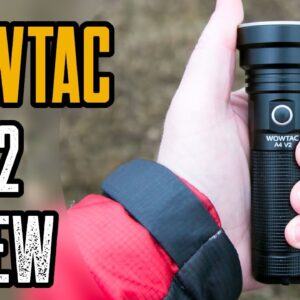 WOWTAC A4 V2 Flashlight Review | Best Budget Ultra-Thrower!