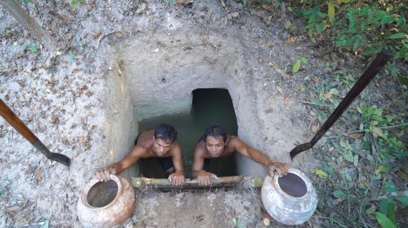 51Day Build The Most Underground And Water To Temple Tunnel Swimming Pools
