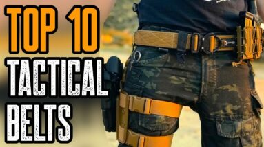 TOP 10 BEST TACTICAL BELTS & GUN BELTS 2021