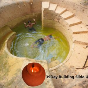 Building The Most Water Slide Tunnel Swimming Pools Underground And Cave House Underground