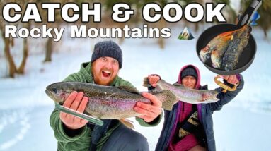 6 Days Winter Camping in Snow Storm in the Rocky Mountains - Day 1