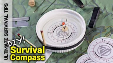 DIY - Junk Drawer / Survival Kit Compass Hack - You Can Make Today. Best Last Ditch Bug Out Compass