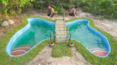 Incredible!! Build The Most Butterfly Swimming Pools Underground