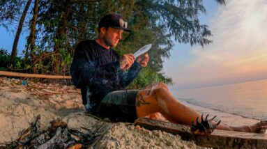 12 hours ON A TROPICAL ISLAND... Catch and cook on the open fire. EP 62