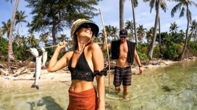 SURVIVAL CHALLENGE WITH MY GIRLFRIEND. Can we find food on this deserted island? ep 58