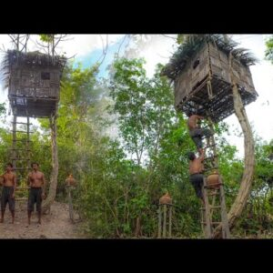 Build The Most Tree House And Water Slide Swimming Pools Part I