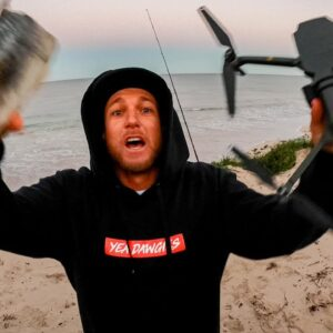 HOW TO CRASH A DRONE - SOLO SURVIVAL TIPS - CATCH AND COOK FRESH FISH. EP 71