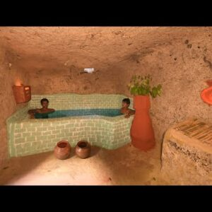 Digs a Hole in a Mountain Build Amazing Apartment Underground